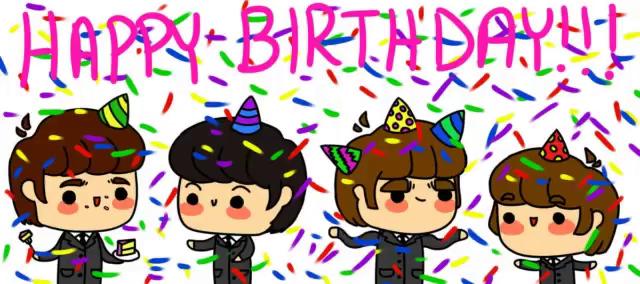 Brilliant Singing Happy Birthday By The Beatles Gifs Tenor Funny Birthday Cards Online Alyptdamsfinfo