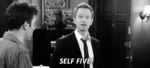 Self Five! GIF - How Met Your GIFs