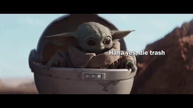 Baby Yoda Die Trash Movie Wallpaper