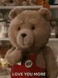 Love You More Ted Flying Kiss GIF - LoveYouMore TedFlyingKiss GIFs