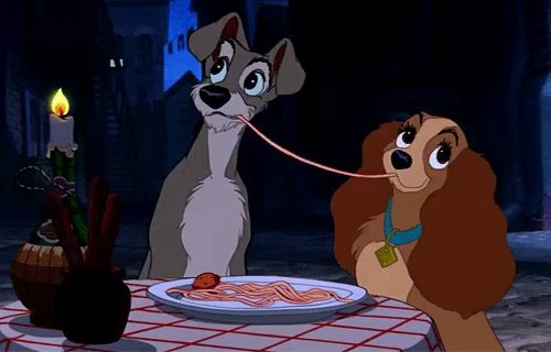 The popular Lady And The Tramp Spaghetti GIFs everyones sharing