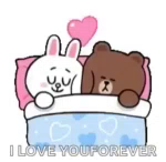 ILove You Forever Bunny GIF - ILoveYouForever Bunny Bear GIFs