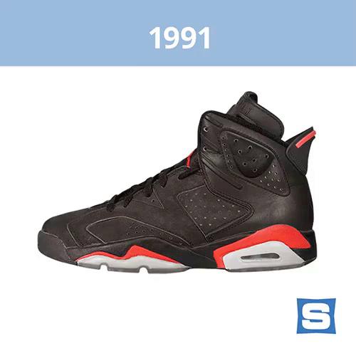 finest selection c7c66 d0874 1991  Air Jordan 6