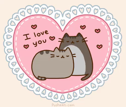 I Love You Gif Happyvalentinesday Iloveyou Pusheen Gifs