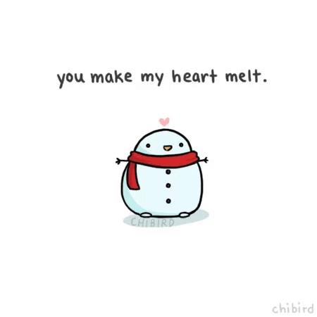 Heart Snowman GIF - Heart Snowman Cute - Discover & Share GIFs