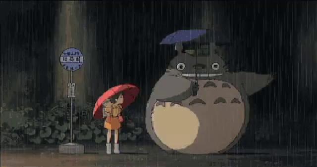 Totoro Rain GIFs | Tenor