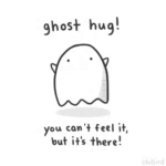 Ghost Hug Cartoon GIF - GhostHug Cartoon YouCantFeelIt GIFs