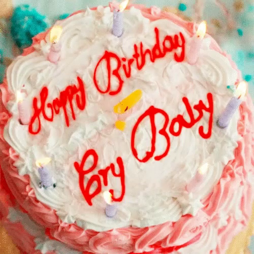 happy birthday cake gif happybirthday cake crybaby gifs