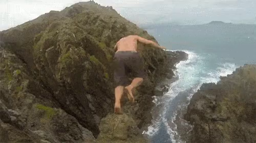 Jumping Off Cliff GIFs | Tenor