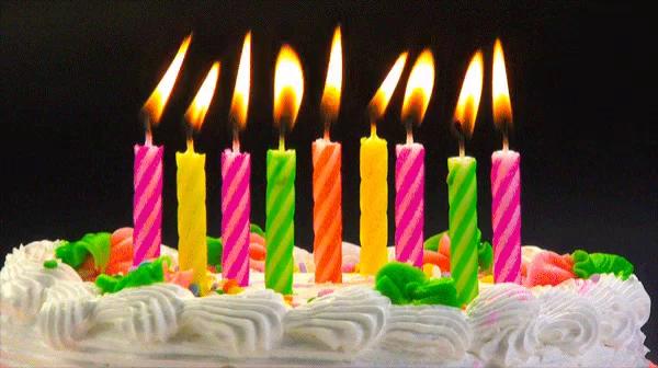 Admirable Birthday Candle Gifs Tenor Personalised Birthday Cards Akebfashionlily Jamesorg