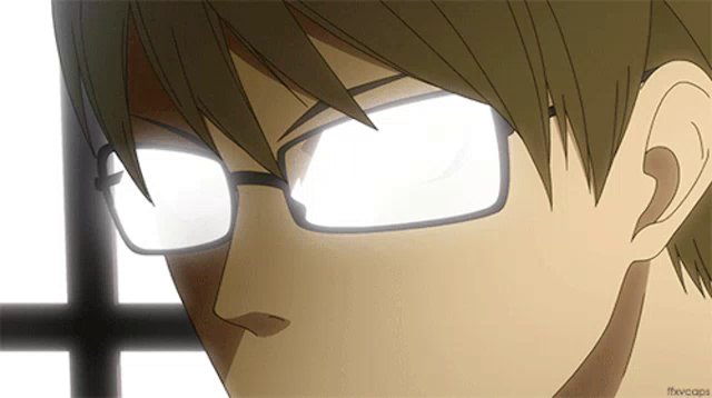 Anime Glasses Glare Gifs Tenor