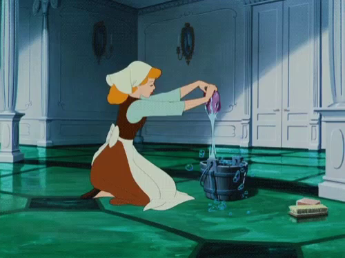 Image result for cinderella cleaning