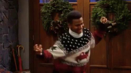 christmas sweater gif christmassweater freshprinceofbelair discover share gifs