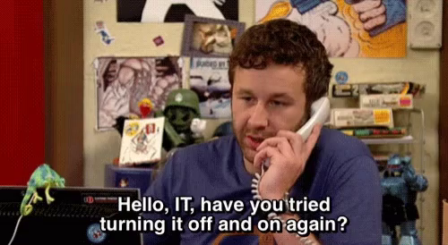 The It Crowd Have You Tried Turning It Off GIFs | Tenor