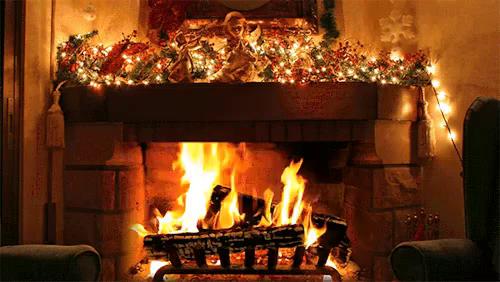 Fireplace Christmas Wallpaper Gifs Tenor