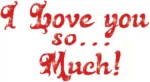 ILove You So Much Red Glitter GIF - ILoveYouSoMuch RedGlitter AnimatedText GIFs