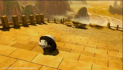 Kung Fu Panda Stairs