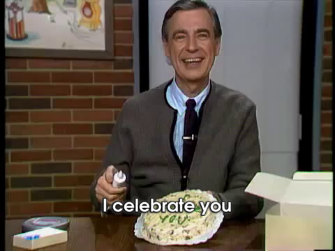 Mister Rogers Celebrates Your Birthday GIF - MisterRogers Celebration Cake  - Discover & Share GIFs