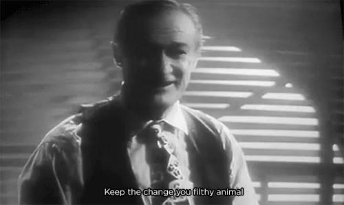 happy birthday you filthy animal gifs tenor - Merry Christmas You Filthy Animal