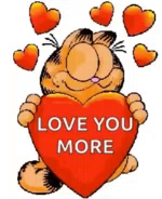 Garfield Love GIF - Garfield Love Hearts GIFs