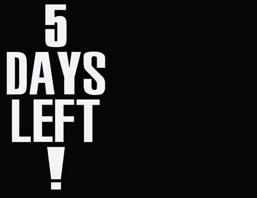 Countdown 5 Days Gifs Tenor