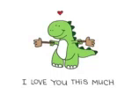 ILove You This Much Dino GIF - ILoveYouThisMuch Dino GIFs