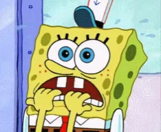 Spongebob Nail Biting Gif Spongebob Nailbiting Discover Share Gifs