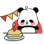 Panda Happy GIF - Panda Happy Cake GIFs