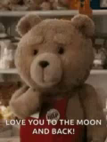 Ted Kisses GIF - Ted Kisses LoveYouToTheMoonAndBack GIFs