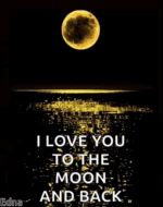 Love You To The Moon Sparkles GIF - LoveYouToTheMoon Sparkles Glitter GIFs