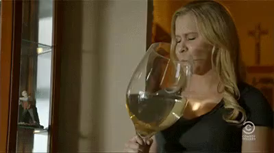 Amy Schumer Wine Glass Gif Drunk Drink Drunkgirl Discover
