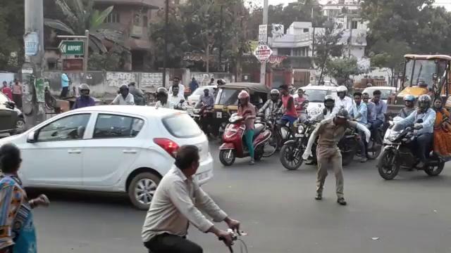 Traffic Enforcer GIF - Traffic Enforcer Dancing - Discover & Share GIFs