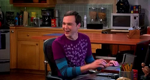 Image result for sheldon cooper laughing