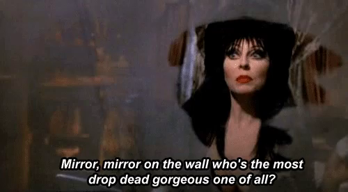 Elvira Mirror On The Wall GIF